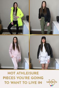 If you're living in your sweats and leggings lately like we are, you're going to love these fashionable options to step up your look. Even if no one else sees them, you'll feel good about it! Athleisure Trend, Good News, Lounge Wear, Casual Wear, Comfy, Leggings, Stylish, Hot, How To Wear