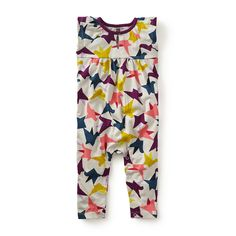 Ponti's Flight Romper | Gio Ponti was a man of many talents. Over his career, he was an architect, scholar, magazine editor, furniture designer and artist. The Italian virtuoso's colorful aesthetic is what inspired this playful print.