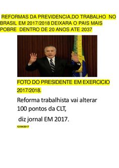 curiosidades ocultas: REFORMAS DA PREVIDENCIA,DO TRABALHO  NO BRASIL EM ...