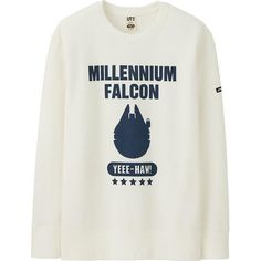 UNIQLO Men Star Wars Collection Sweatshirt ($30) ❤ liked on Polyvore featuring men's fashion, men's clothing, mens clothing, galaxy mens clothing and men's apparel
