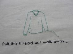 If You Want to Destroy My Sweater... Weezer Embroidery by Flickr user lockedinthepark
