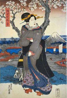 隅田堤桜盛」(左)