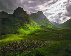 Glencoe, Scotland  i saw this beautiful, harsh and rugged place in the dead of a frigid winter. It's spell-binding. The history, sadness.  The place is almost weeping with beauty, sadness and loss.