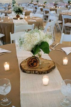Rustic Table Decor Wedding Receptions Babies Breath Beautiful Hydrangea & Babies Breath Floral Centerpiece In Mason Jar Flowers Fall Wedding, Rustic Wedding, Dream Wedding, Trendy Wedding, Wedding Vintage, Floral Centerpieces, Wedding Centerpieces, Mason Jar Centerpieces, Wedding Arrangements