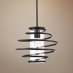 "Vansbro Collection 14 1/2"" Wide Black Pendant Light"