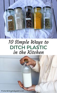 Plastic seems to have wriggled its way into nearly everything nowadays, whether it's as packaging or as the end product. Here are some easy ways to cut down on it in your kitchen (and they'll also save you money and benefit your health).