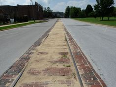 Old Trolley Tracks on Bank Street in Decatur, AL