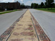 Old Trolley Tracks on Bank Street in Decatur, AL