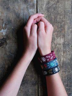 Felt Bracelet Set- Felt Cuff - Bracelet Set