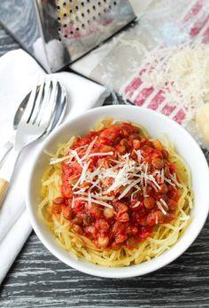 Lentil Marinara Sauce with Spaghetti Squash - Vegan & Gluten Free