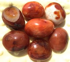 Large Tumbled Carnelian   Must have stone by ZenwithGems on Etsy
