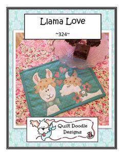 Llama Love Mug RugLlama Love Mug Rug
