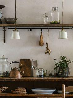 Cheap Home Decor .Cheap Home Decor Industrial Style Kitchen, Rustic Kitchen Design, Rustic Design, Industrial Design, Vintage Industrial, Kitchen Wood, Kitchen Ideas, Kitchen Layout, Kitchen Cabinets
