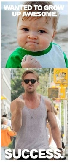 Okay, I don't really think Ryan Gosling is cute (he kinda looks like a hamster) but this was just too funny.