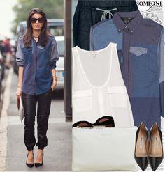 """Street Style: Milano"" by nastyaafanasova ❤ liked on Polyvore"