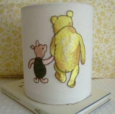 Winnie The Pooh and Piglet  Embroidered Handmade by EvieEccles