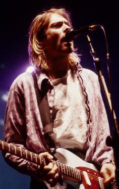 Kurt Cobain on stage #Nirvana