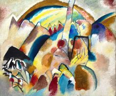 Landscape with Red Spots, No. 2 by Vasily Kandinsky by Guggenheim Museum   Size: 117.5x140 cm Medium: Oil on canvas The Solomon R. Guggenheim Foundation Peggy Guggenheim Collection, Venice, 1976 © 2016 Artists Rights Society (ARS), New York/ADAGP, Paris