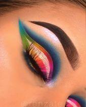 Smokey Eye Makeup Tutorial, Eye Makeup Steps, Eye Makeup Art, Eyeshadow Makeup, Eyeliner Tutorial, Eyeshadow Palette, Mermaid Eye Makeup, Disney Eye Makeup, Yellow Eyeshadow