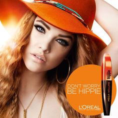 L'Oreal Miss Hippie MEGA VOLUME mascara! #loreal