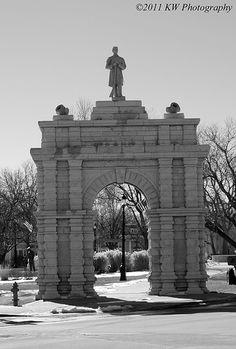 Civil War Memorial Arch in Junction City Kansas