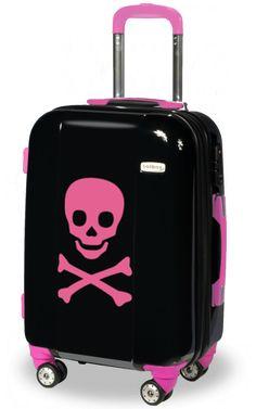 Skull suitcase