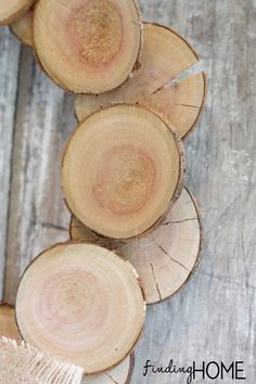Wood slice fall wreath