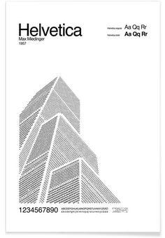 Helvetica als Premium Poster von Per Nilsson | JUNIQE