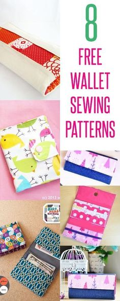 Sewing Gifts For Kids wallet patterns Wallet Sewing Pattern, Sewing Patterns Free, Free Sewing, Free Pattern, Sewing Men, Sewing Coat, Baby Sewing, Easy Sewing Projects, Sewing Projects For Beginners