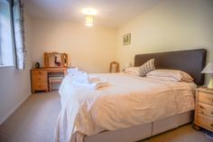Comfortable superking size bedroom has beautiful views of the garden. Log Burner, Relax, Cottage, Bedroom, Garden, Holiday, Furniture, Beautiful, Home Decor
