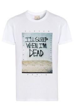 Eleven Paris I'll Sleep When I'm Dead Minimal Style, Minimal Fashion, Men's Fashion, Paris T Shirt, Eleven Paris, Mens Fashion Sweaters, Men Sweater, Mens Athletic Fashion, Tee Shirt Homme