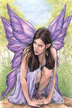 "Purple Fantasy Fairy. Repinned by An Angel's Touch, LLC, d/b/a WCF Commercial Green Cleaning Co. ""Denver's Property Cleaning Specialists"" http://www.angelsgreencleaning.net"