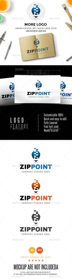 Zip Point Logo - Objects Logo Templates
