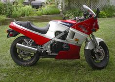 1985 with a red cafe seat, pearl white rear cowl, alum. rear sets, Dunlap comp k tires, 1st new streetbike