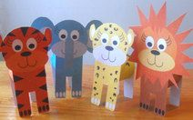 Cardboard Tube Jungle Critters with free printable templates