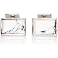 Prada Men's Rectangular Cufflinks (650 NZD) ❤ liked on Polyvore featuring men's fashion, men's accessories, cuff links, silver and mens cuff links