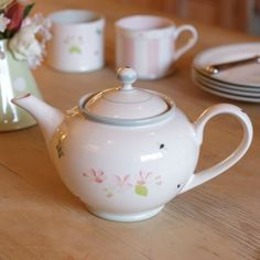 Apple Blossom Teapot Round