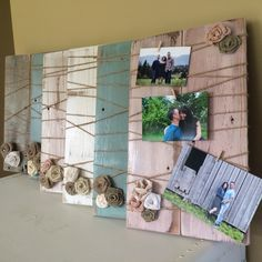 rustic photograph frames in hallway - Google Search