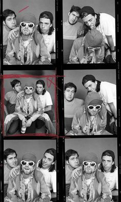 Nirvana photographed before the MTV Unplugged session, by Jesse Frohman for the Observer at the Omni Hotel, New York, NY. July 1993.