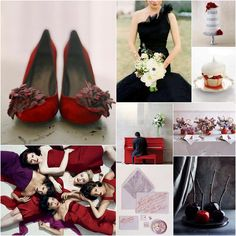 red and black wedding reception decorations