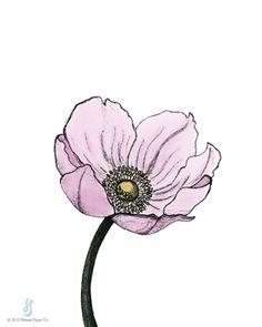 Poppy Art Print by Hennel Paper Co.