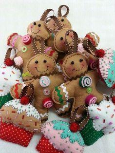 Jengibre cookies & cupcakes felt: