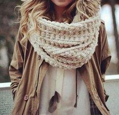 street style knit scarf