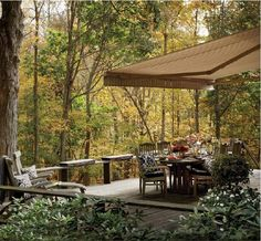 Creating a relaxed outdoor space with Sunbrella awning