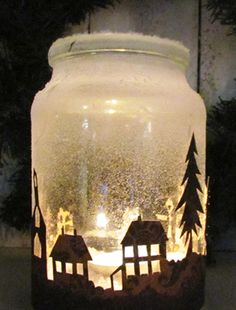 Beautiful Homemade Christmas Decorations and Ideas Best Inspirations) Christmas Arts And Crafts, Christmas Projects, Winter Christmas, Christmas Lights, Christmas Ornaments, Holiday, Christmas Stuff, Christmas Present Decoration, Homemade Christmas Decorations