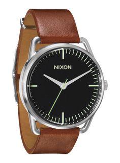 nixon watch men leather