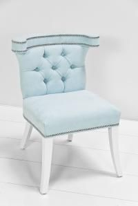 light blue chair