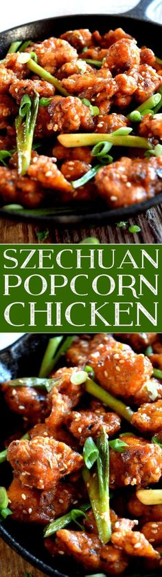 szechuan-popcorn-chicken - Recipes, tips and everything related to cooking for any level of chef. Turkey Recipes, Chicken Recipes, Asian Recipes, Healthy Recipes, Free Recipes, Szechuan Recipes, Chinese Recipes, Healthy Meals, Asian Cooking