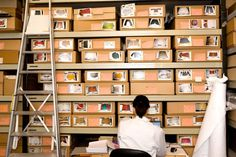Stored anthropology collections at Study Collections Centre, Horniman museum and gardens.