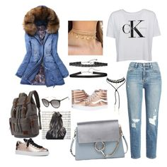Casual Winter Style.... by indstargazer0804 on Polyvore featuring polyvore fashion style Calvin Klein WithChic Frame Vans Nine West Chloé Chan Luu Kate Spade clothing
